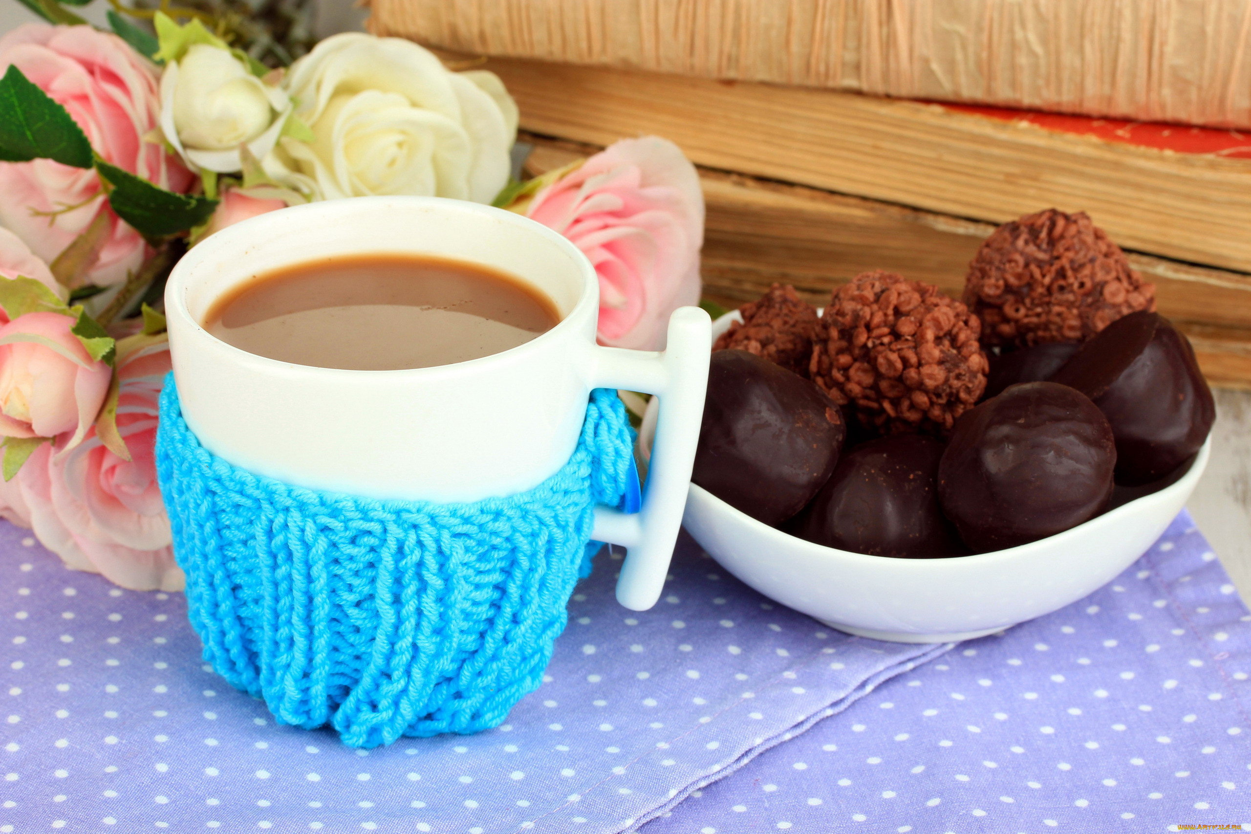 Картинки кофе и конфеты